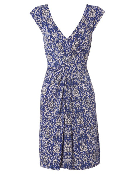 Leona by Leona Edmiston - China Blue Side Knot Drape Dress