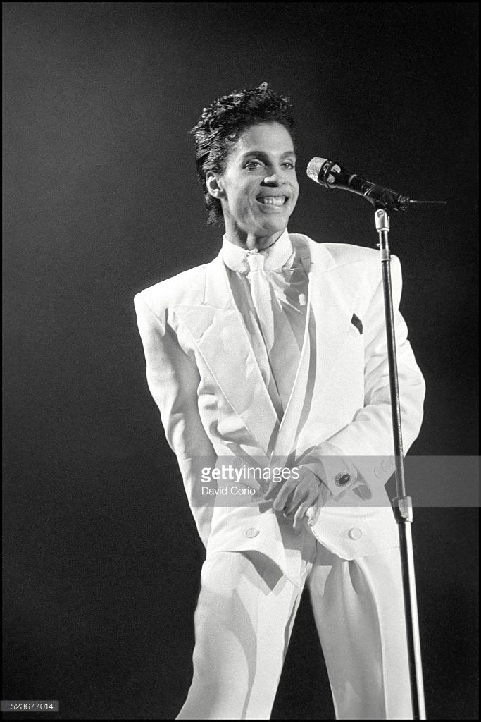 Prince performing at Wembley Arena, London, UK on 14 August 1986.