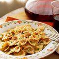 Bow Ties with Sun-Dried Tomato and Scallion Cream - Farfalle Recipes - Pasta Cream Sauce Recipes - Delish