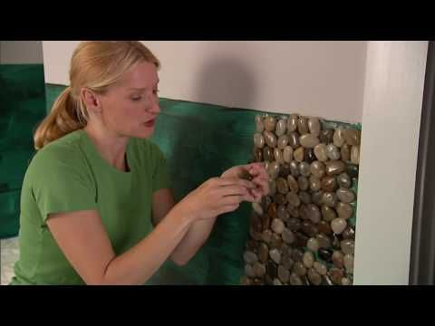 Pebble Mosaic Accent Wall: In this video, we will show you how to install the pebble mosaic tiles, grout the tiles, and seal the tiles.
