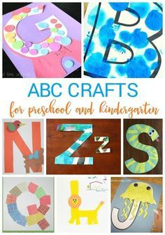 Use these easy alphabet crafts to teach preschool and kindergarten kids about their letters! These fun crafts are perfect for letter of the week activities or for introducing letters. Try these alphabet crafts today!