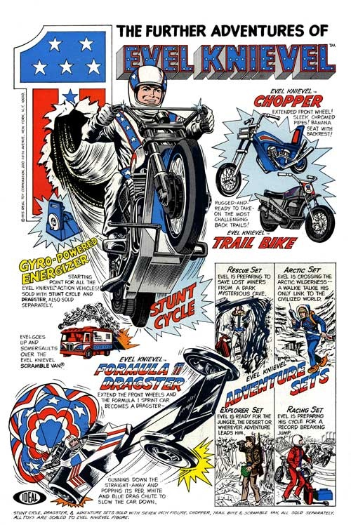 The Further Adventures of Evil Knievel - I had this toy, you had the wind the bike up!