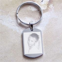 Photo engraved keyrings.  Perfect for Dads!