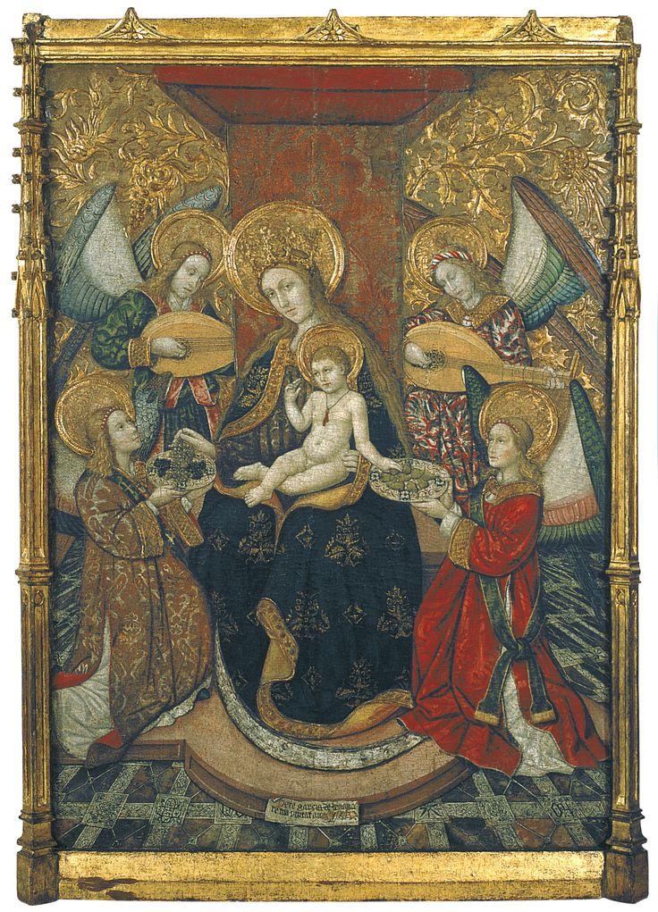 Virgin and Angels / Virgen y ángeles // ca. 1470 ? // Pedro García de Benabarre //  From the parish church of the Assumption in Bellcaire d'Urgell (Noguera) // © Museu Nacional d'Art de Catalunya
