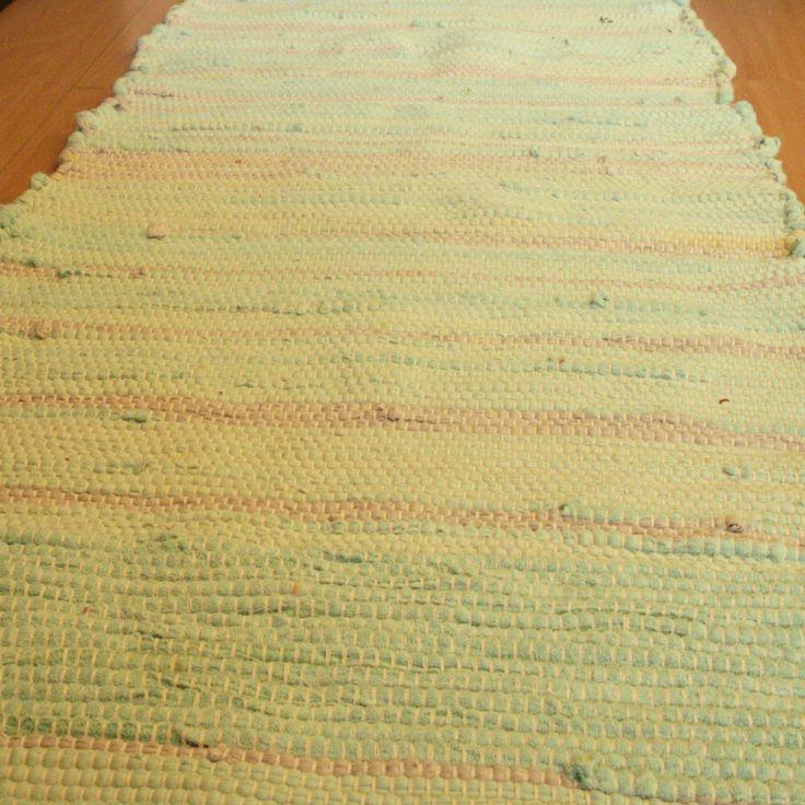 tkaný kobereček - hadrák - světlý - zeleno šedý