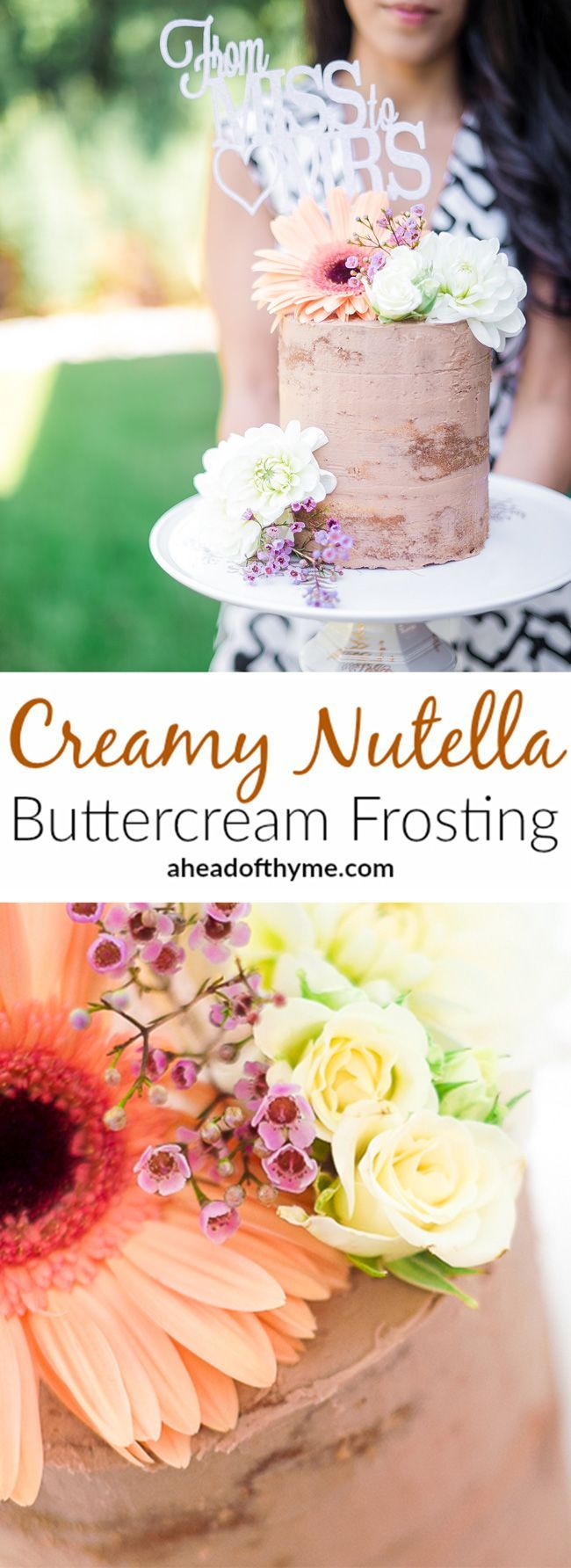 Creamy Nutella Buttercream Frosting: Decorate any cake or cupcake with this…