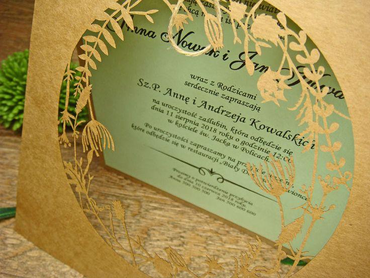 zaproszenia ślubne eko z kolekcji Lato wzór  68 |   Zaproszenia ślubne laserowe, kartki 3D