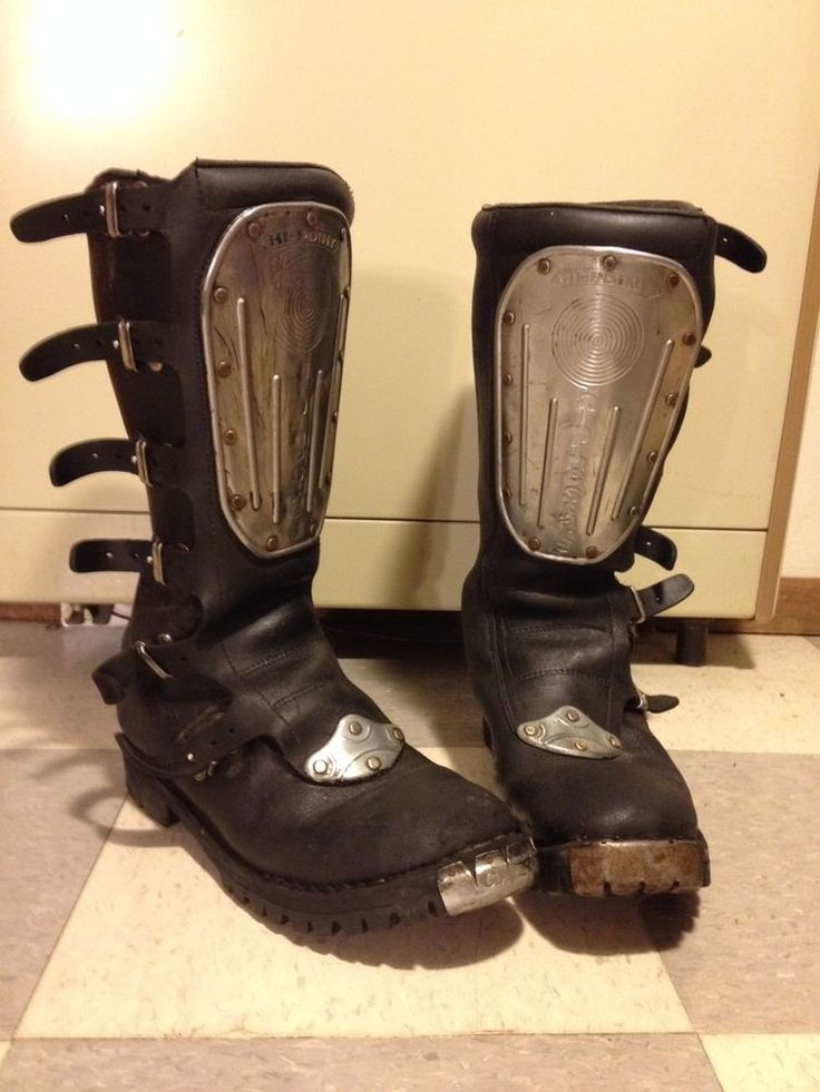 Hi Point Alpinestar MX vintage Boots mens leather AHRMA ...