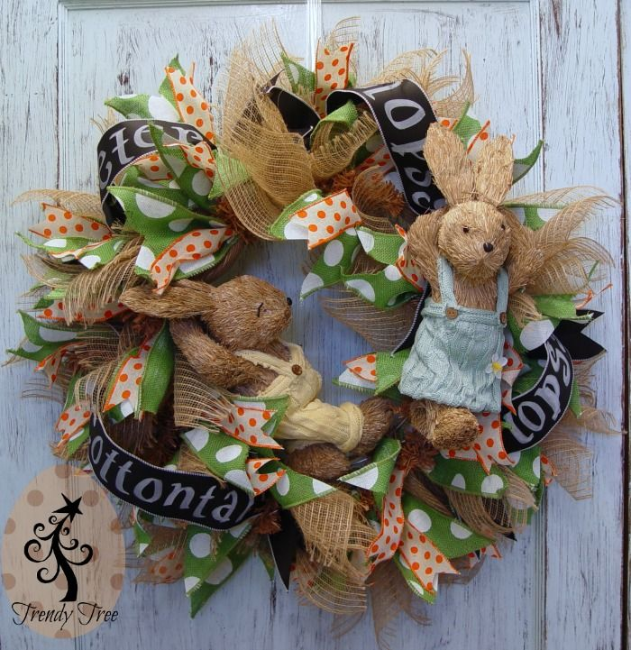 Burlap Carrot Easter Wreath Tutorial More Easter Bunny