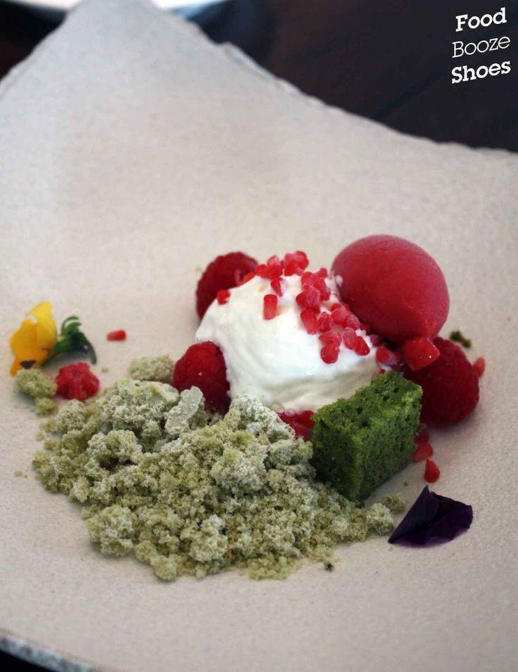 "Japanese green tea"", raspberry sorbet, yoghurt mousse More about green tea weight loss options"