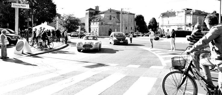 Mille miglia 2016 Parma Domenica mattina v.le Pasini dopo il C.O.di partenza
