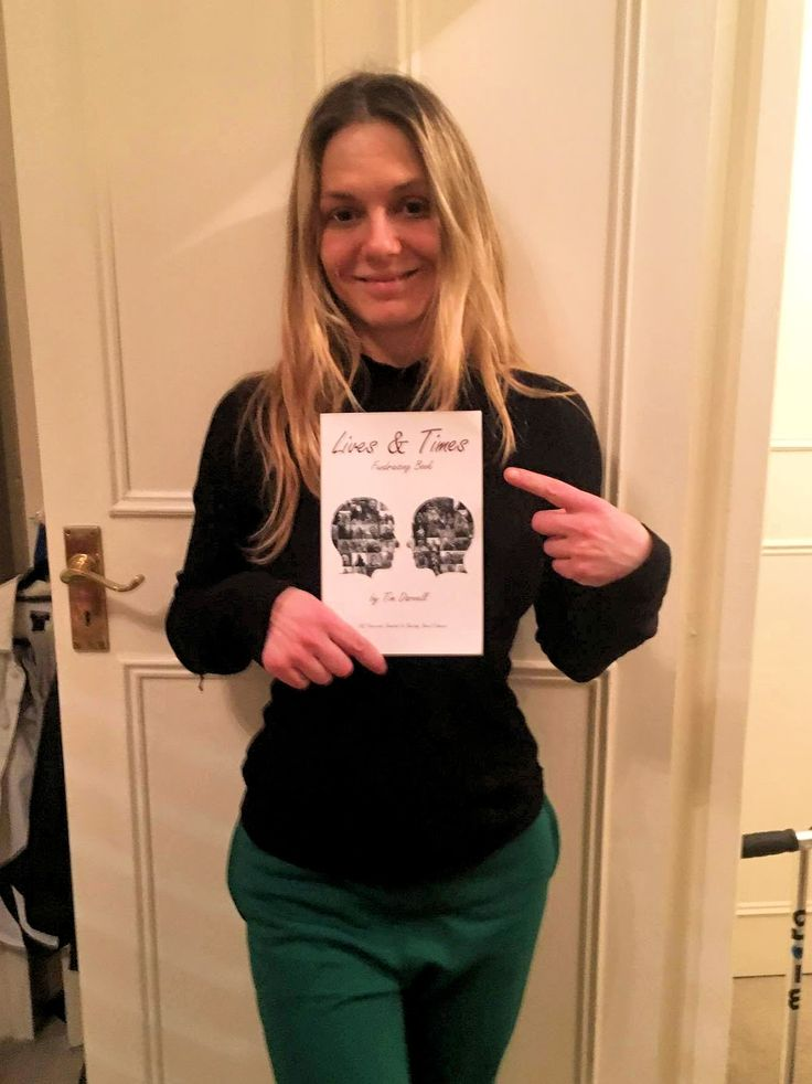 Alison Franks Daughter of The Late & Great Billy Franks With The Lives & Times Bowel Cancer Charity Book
