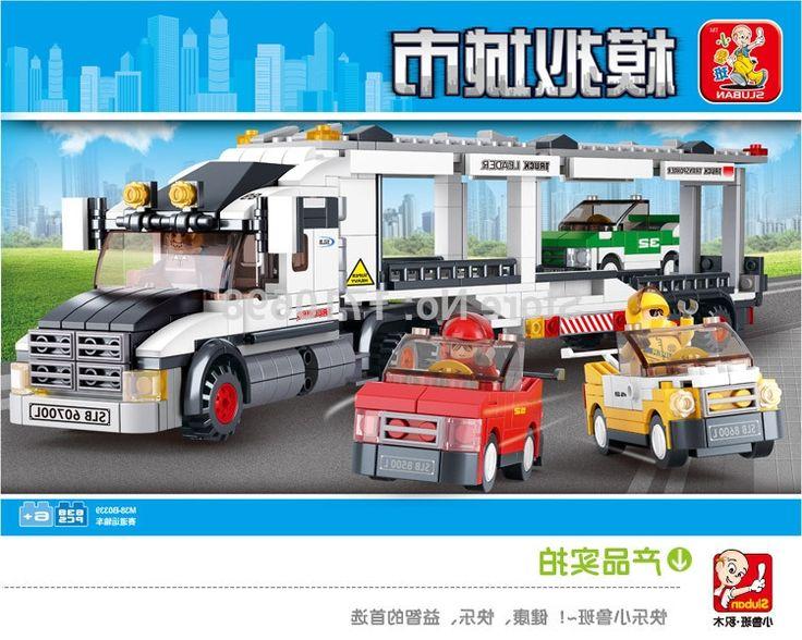 34.77$  Buy here - https://alitems.com/g/1e8d114494b01f4c715516525dc3e8/?i=5&ulp=https%3A%2F%2Fwww.aliexpress.com%2Fitem%2FSluban-638pcs-Auto-Transport-Truck-Building-Blocks-Transport-aircraft-vehicle-Bricks-Toys-Gift-Compatible-with-Lego%2F32299975024.html - Sluban 638pcs Auto Transport Truck Building Blocks Transport aircraft vehicle Bricks Toys Gift 34.77$