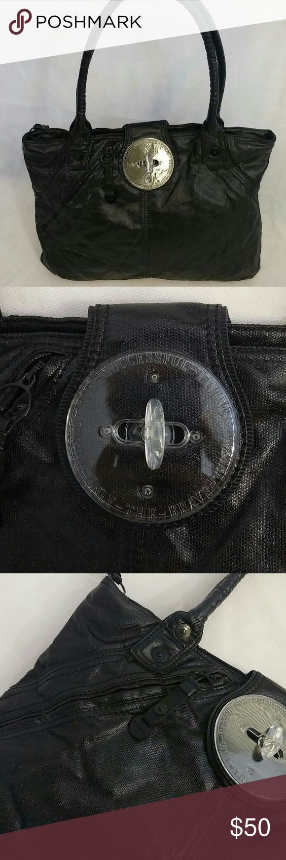 """DIESEL Coated Denim Bag Gorgeous!  Original purse by Diesel PERFECT condition inside and out 17"""" across, 12""""height + 10"""" shoulder drop Diesel Bags Totes"""