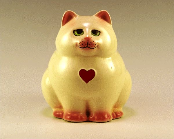 Cat Piggy Bank (by Clay Art of San Francisco).
