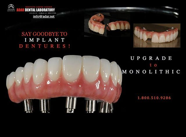Upgrade Your Clients To Full Monolithic Implant Retained Hybrid Dentures Instead Of Those Things They Are Wearing Adar Denture Implants Dentures Implants