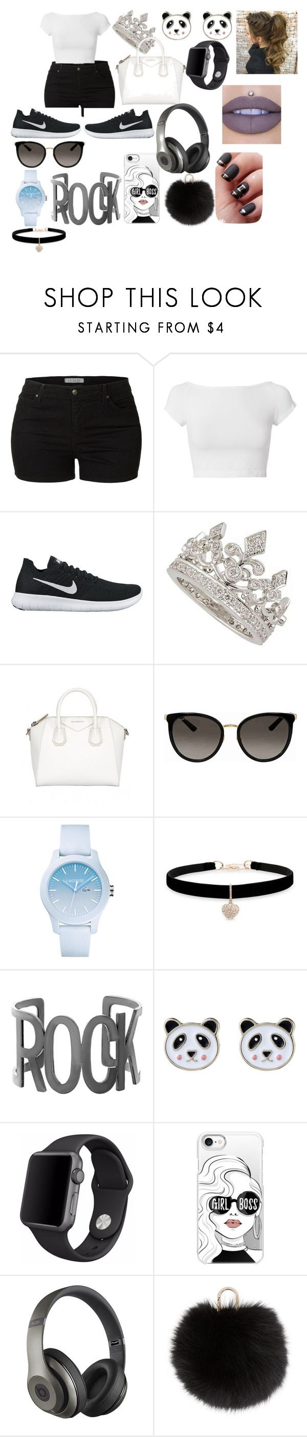 """""""Untitled #22"""" by monicaparker-1 on Polyvore featuring LE3NO, Helmut Lang, NIKE, Garrard, Gucci, Lacoste, Betsey Johnson, Steve Madden, Accessorize and Apple"""