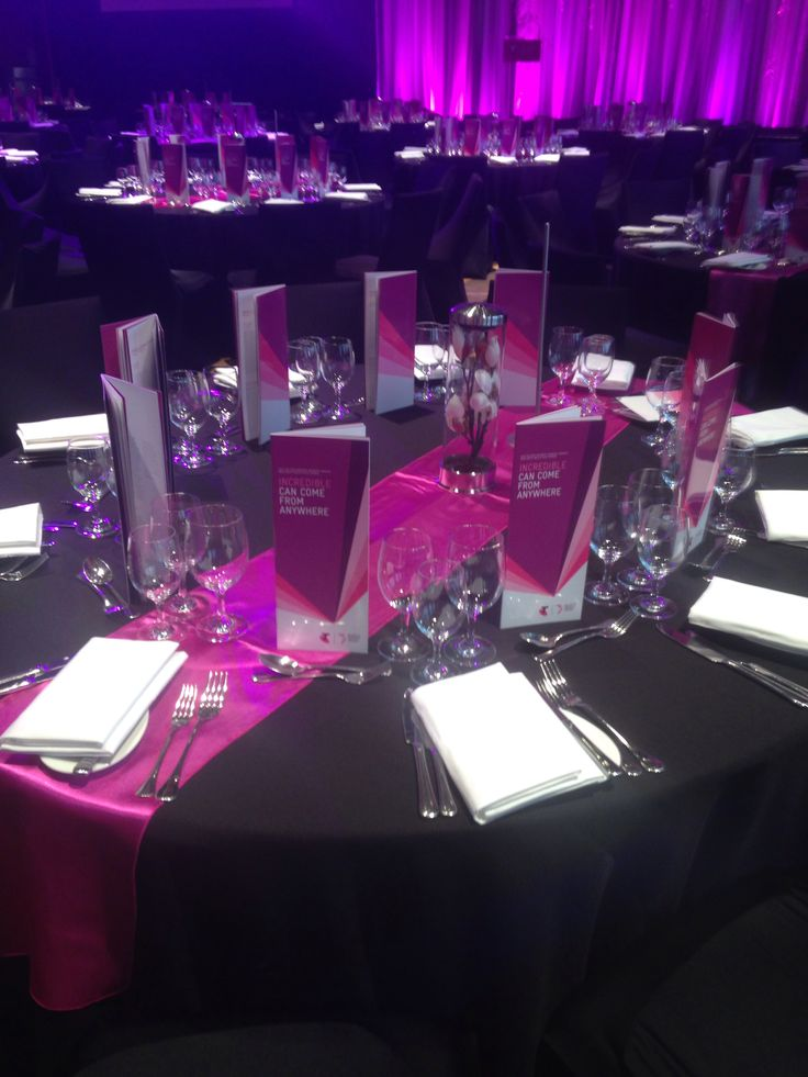 Installation Designer Chair Covers did for the Telstra awards.