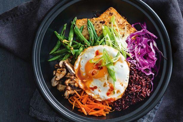 Bibimap-style rice bowl main image