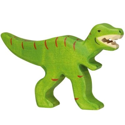 Attention le tyrannosaure est en balade ! Figurine Holztiger