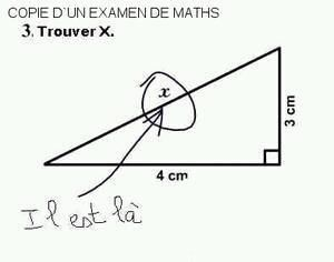 Copie d'un examen de maths