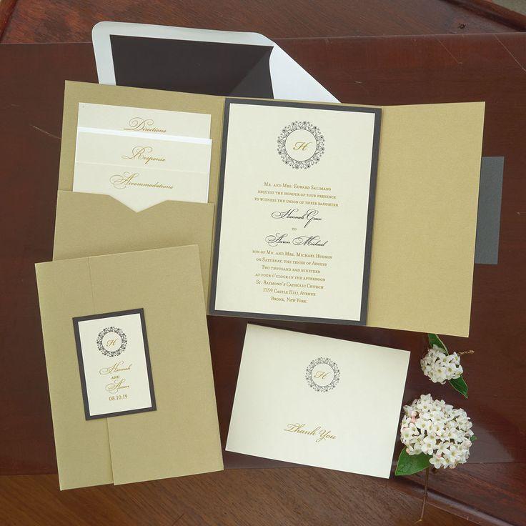 Pocket Folio Wedding Invitation The American Wedding