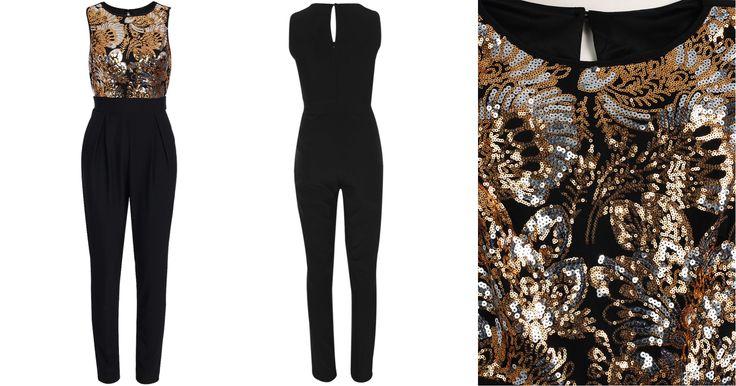 Gold Sequin Floral Jumpsuit Limited Edition R800