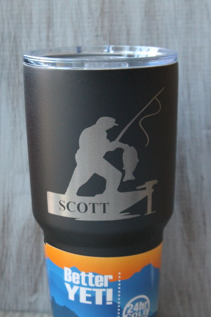 Sale-30 Oz. Engraved Textured Black Powder Coated Angler Bass Fishing Boat Tumbler-Black Polar Camel. Ships within 2 business days!! Customize your 30 Oz Black Powder Coated Tumbler! The image and text (if chose) are laser engraved, which means they are not vinyl stickers that will fall off or wear over time. Either tumbler comes with a lid and box. If you select the personalization option, the name will be engraved within the boat as shown. Please input your name at checkout. Your cup…