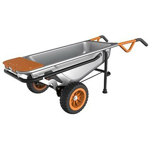 WORX Aerocart Multifunction 2Wheeled Yard Cart Dolly and Wheelbarrow with Flat Free Tires  WG050 ** Want additional info? Click on the image.