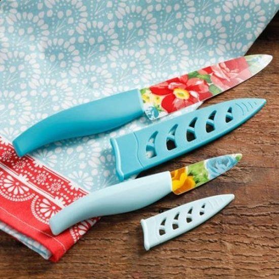 Pioneer Woman 2 Piece Cutlery Knife Set Vintage Floral Paring & Chef Slice Dice  #ThePioneerWoman