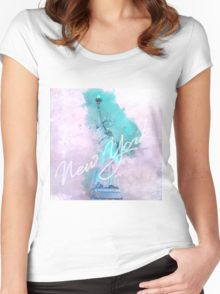 New York City - Statue Of Liberty  Women's Fitted Scoop T-Shirt