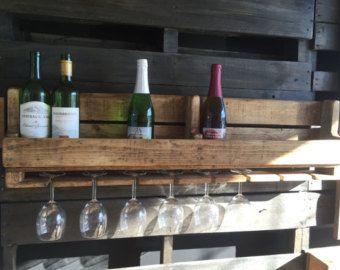 Support pour bouteilles de vin et coupe (Buvette) - Modifier la fiche - Etsy