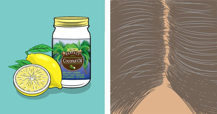 Mix lemon and coconut oil together – It returns grey hair back to its natural color