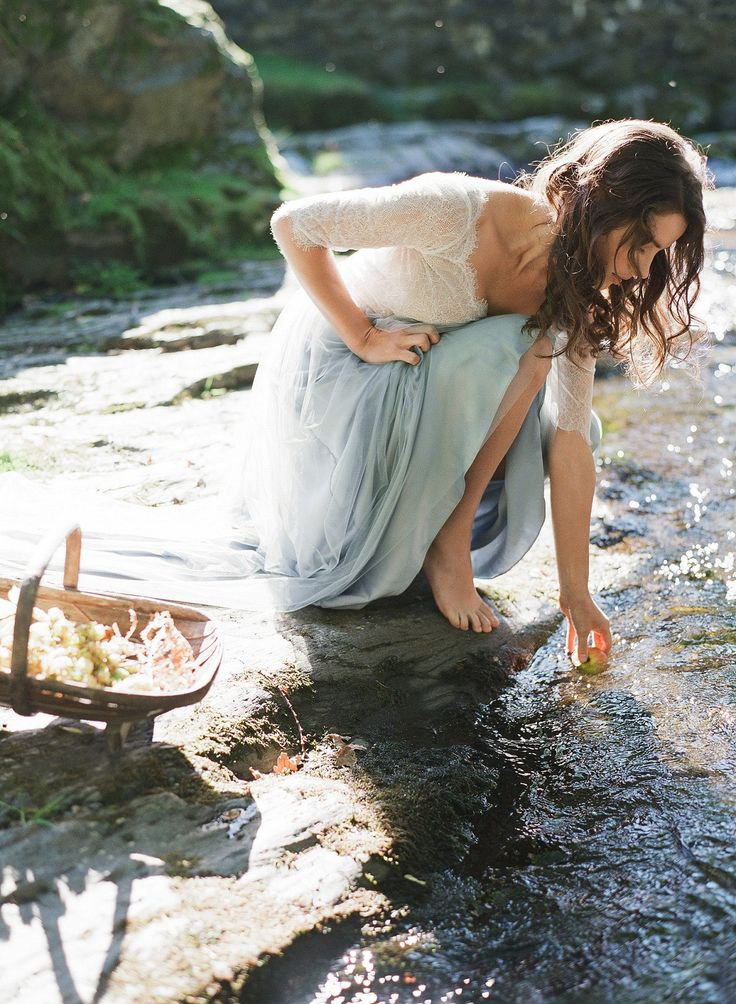 THE DRESS. white and blue, like wendy!Maid of Buttermere - Fable Inspired Bridal Story by Taylor & Porter | Wedding Sparrow