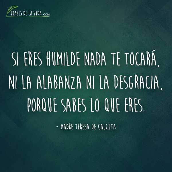 Frases De Humildad Frases De Madre Teresa De Calcuta Humildad Imagenes Frases Sobre La Humildad Frases Sabias
