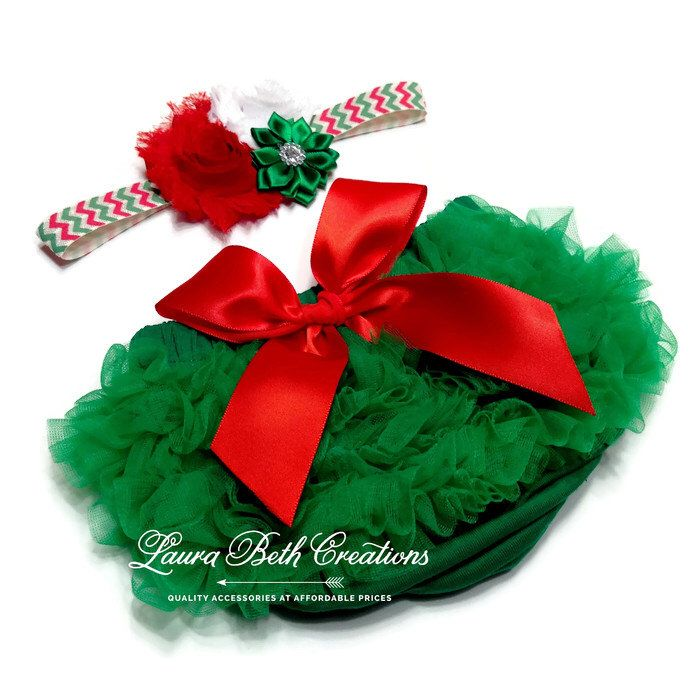 Baby Bloomer, Christmas Ruffle Bloomer and Headband, Baby Photo Prop, Newborn Bloomer, Ruffle Diaper Cover, Infant Bloomer, Red and Green by LauraBethCreations on Etsy https://www.etsy.com/listing/469091650/baby-bloomer-christmas-ruffle-bloomer