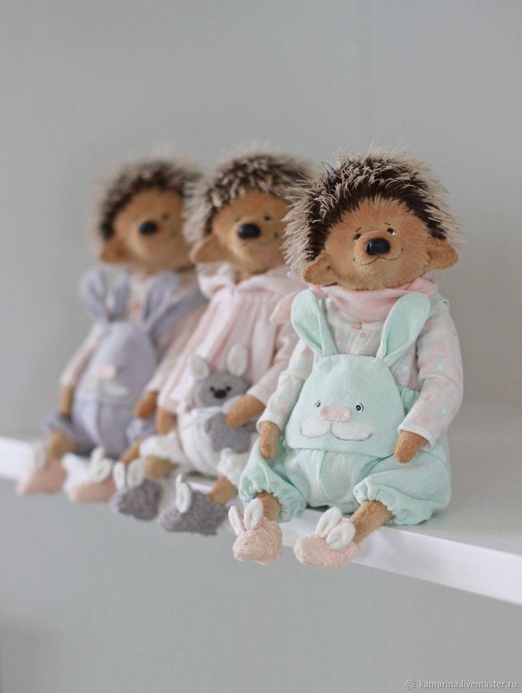 Купить Ежик - тедди, ежик, мишки, бирюзовый, мишки тедди, розовый, teddy, teddy bear