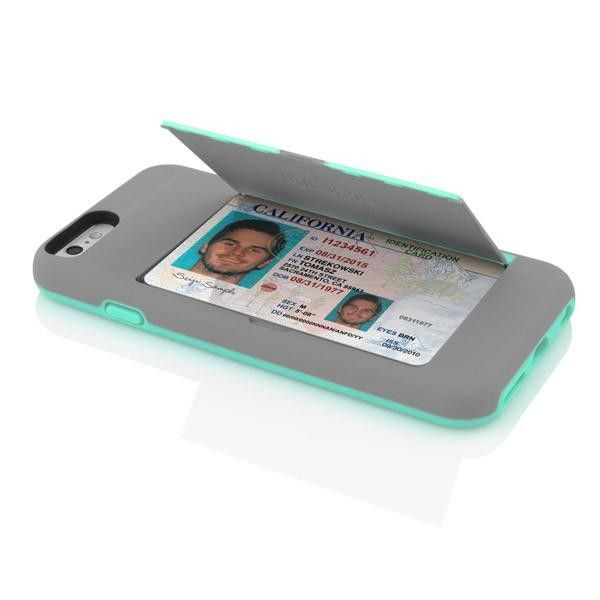 Incipio iPhone 6 Stowaway Case - Grey / Teal