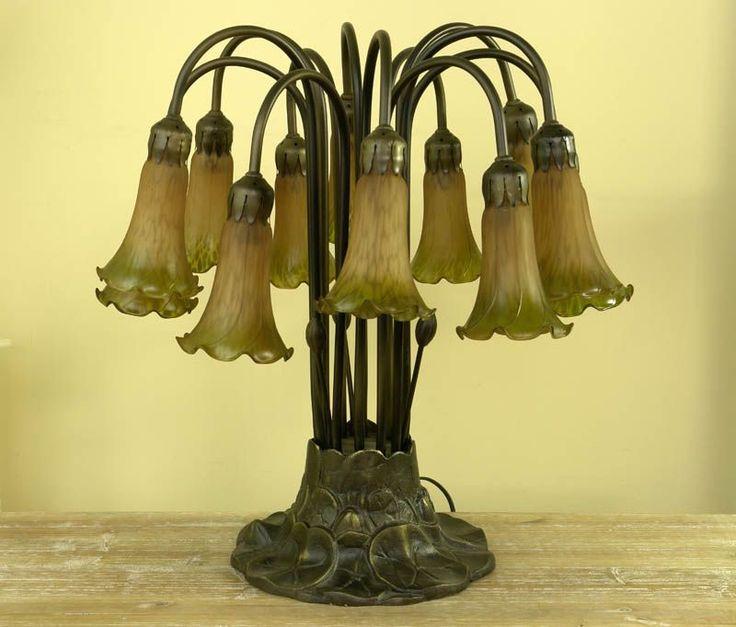 Bukiet lilii - lampa w stylu secesyjnym / Lilies - Art Nouveau lamp