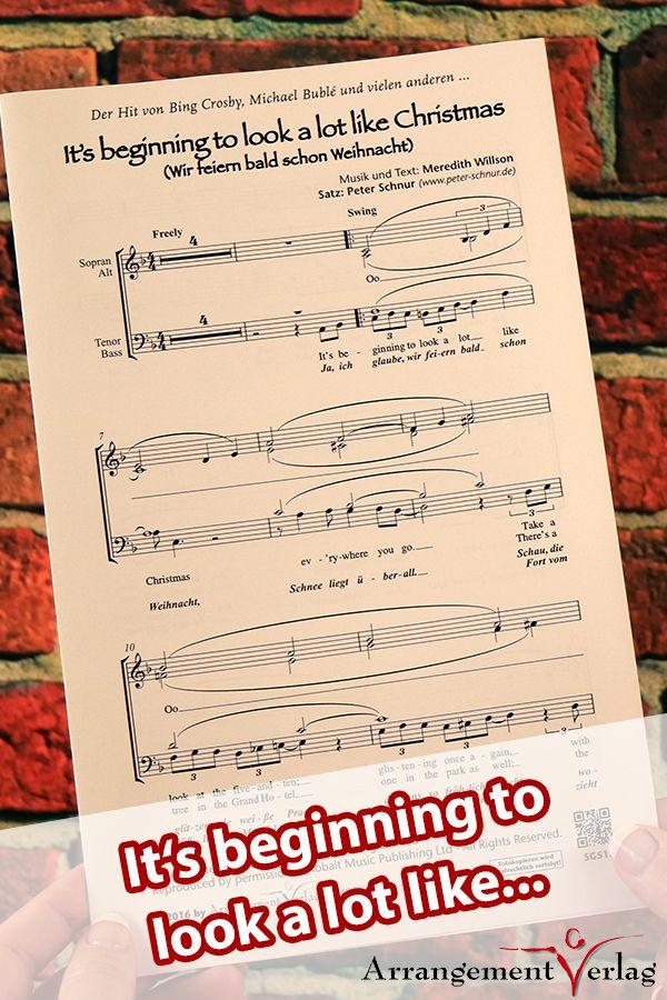 It´s beginning to look a lot like Christmas für gemischten Chor ...