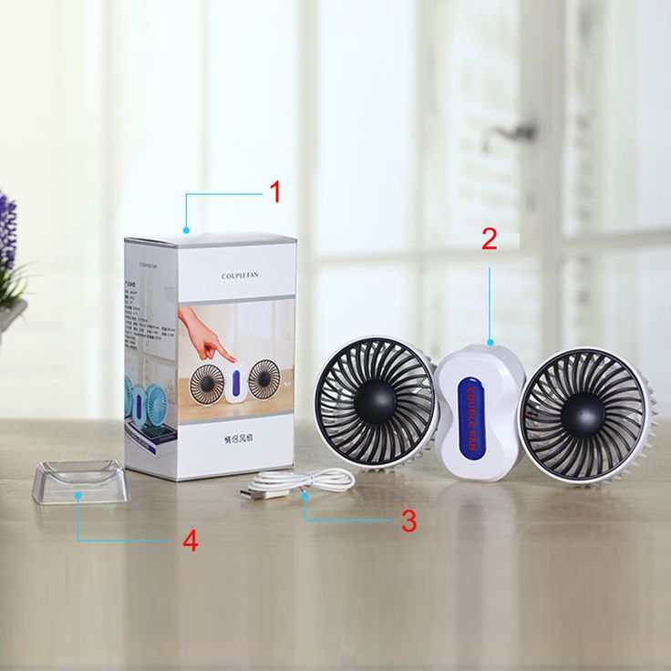 2 Moteurs Couples D'été Climatiseur Ventilateur Rechargeable Li Batterie Air Conditionné Ventilador Ventilateurs Portable Mini USB Ventilateur