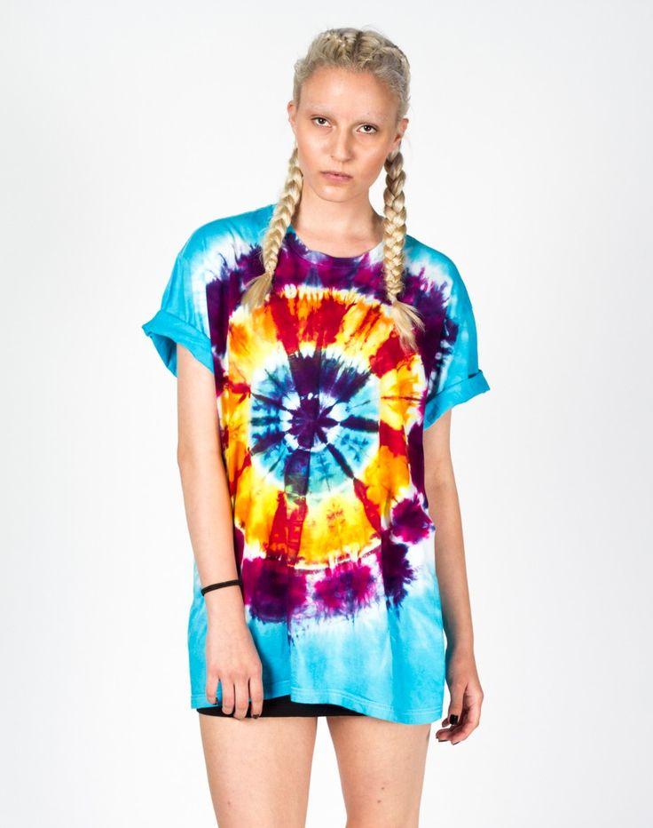 Rework Purple Tie Dye T-Shirt Dress UK 12