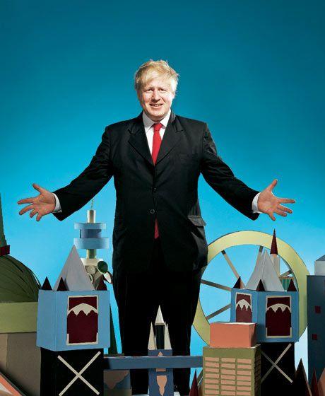 Boris Johnson Guardian Weekend cover. Jay Brooks. Set design Helen Macintyre.
