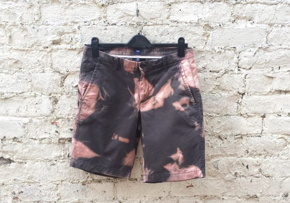 Womens Long Shorts Tie Dye Grunge Shorts to fit Womens UK size 14 or US size 10…