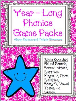 grade 2 phonics games for the whole year mega pack. Black Bedroom Furniture Sets. Home Design Ideas