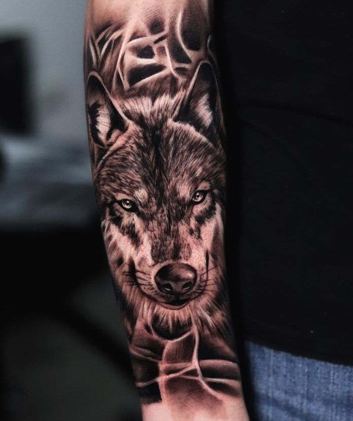 Tatouage Loup Signification Du Tatouage Loup Tatouage Loup Tatouage Tete De Loup Modele De Tatouage Loup