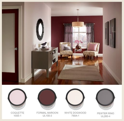 A Short Hallway Is Made Deeper By Painting The Wall At The