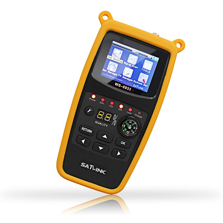 Satlink WS-6933 DVB-S2 FTA C&KU Band Satellite Finder Meter Satlink 6933 WS6933 with 2.1 Inch LCD Display Silicone Cover