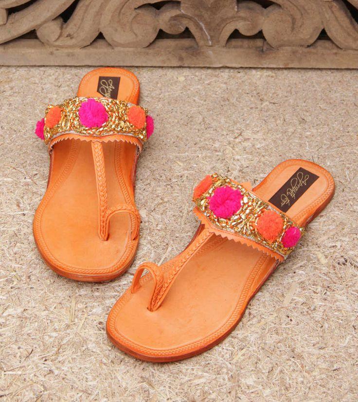 Indian-Kolhapuri-slipper-for-an-Indian-summer: littleredtote
