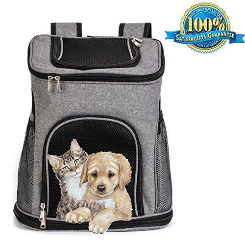 a9203f774c Aoxsen Dog Cat Puppy Pet Carrier Big Pet Backpack Double Shoulder Bag  Portable Front Back Airline